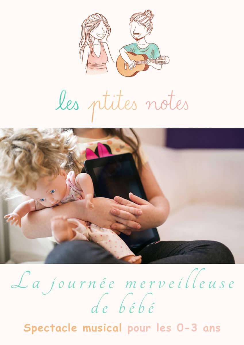 Affiche spectacle la journée merveilleuse de bébé