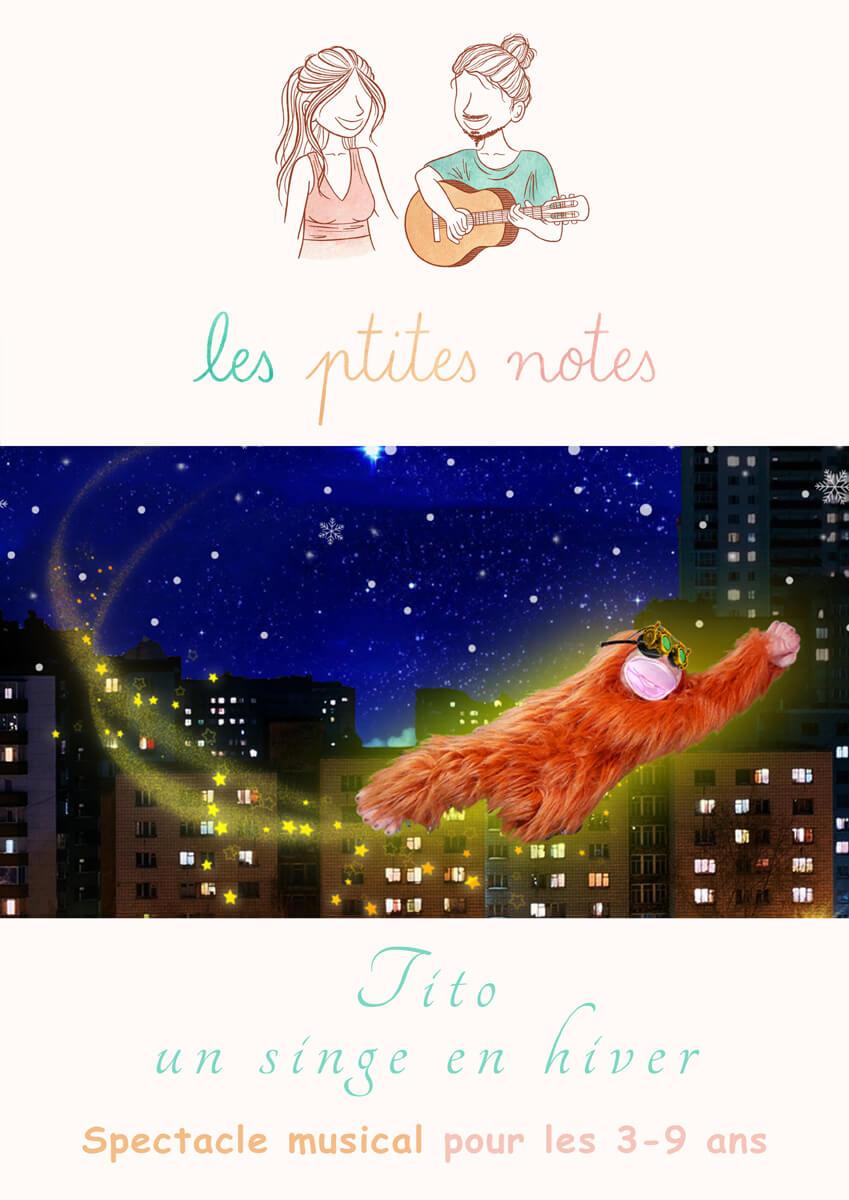 Affiche spectacle Tito un singe en hiver